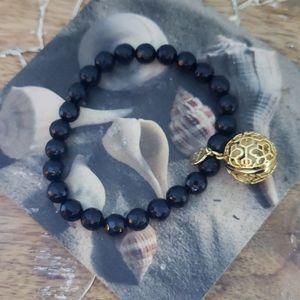 Origami owl black and gold scent bracelet